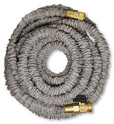 Best 75′ Expanding Hose by (Titan), Strongest Expandable Garden Hose In The World. Solid Brass Connectors, Double Layer Latex Core, Extra Strength Fabric, 3/4 USA Standard …  ★STRONGEST EXPANDABLE HOSE AVAILABLE TODAY. This is the highest quality expandable hose available on the market.  ★SOLID BRASS ENDS.Don't settle for cheap plastic fittings, We only use the highest quality 100% Brass Fittings on our hose products.   ★ FORGET KINKING, TANGLING, AND TWISTING. Our Titan hose is engi..