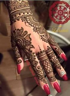 """Recent bridal henna ❤️ This is becoming a very popular design amongst my brides recently. Wedding Mehndi Designs, Mehndi Patterns, Arabic Mehndi Designs, Latest Mehndi Designs, Mehndi Designs For Hands, Simple Mehndi Designs, Henna Tattoo Designs, Henna Tattoos, Henna Art"