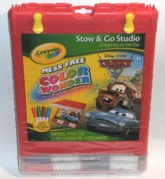 Crayola Color Wonder Cars 2 Stow & Go studio Coloring Kit by Crayola. $12.50. 4 mini markers. 12 page coloring pad. Disney Pixar Cars 2 Theme. Studio storage case