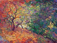 Cottonwood Path - Modern Impressionism | Contemporary Landscape Oil Paintings for Sale by Erin Hanson