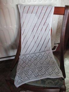gebreide sjaal in ajoursteek