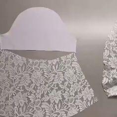 Corte e Costura Veja Como Mudar Sua Vida Financeira Modo Simples e Fácil! Sewing Lessons, Sewing Hacks, Sewing Tutorials, Sewing Crafts, Techniques Couture, Sewing Techniques, Dress Sewing Patterns, Clothing Patterns, Costura Fashion