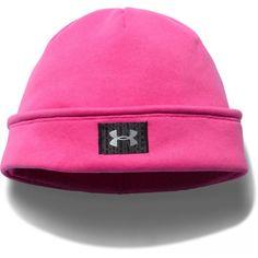 Under Armour® Rebel Pink Storm ColdGear® Infrared Fleece Beanie Under Armour, Body Heat, Beanie, Hats, Pink, Fashion, Moda, Hat, Fashion Styles