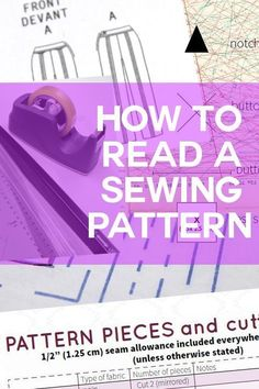 DIY Tutorial - Sewing clothes for beginners: learn how to read a sewing pattern