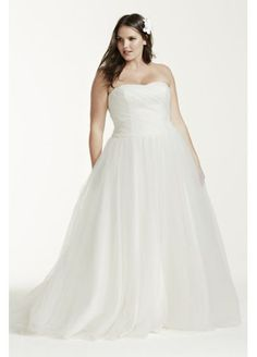 >> Modern Ruched Bodice Tulle Plus Measurement Wedding ceremony Gown