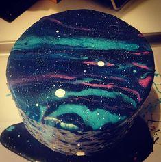 Dark Purple Moon And Star Cake Smash