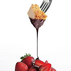 Chocolate-Frangelico Fondue .This is pure chocolate indulgence, with a whiff of hazelnut. Keep in mind that fondue is more versatile than you may think—it's a warm sauce to drizzle over cake, ice cream, or yogurt. Be sure to start with a high-quality chocolate for the best flavor and texture.
