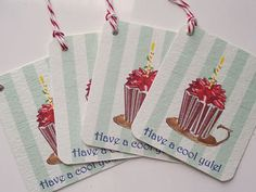 Cupcake Motif Gift Tags by wildabouttags on Etsy, $4.00