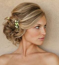 loose side bun showing this for rhinestone pin placement