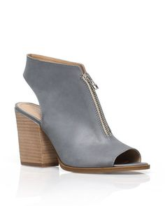 The Viollete - Peep toes and a cutout heel give this zip front bootie versatility and an edgy appeal.