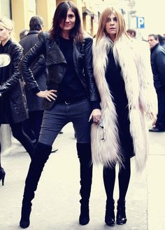 The essence of Parisian chic.......Emmanuelle Alt and Carine Roitfeld