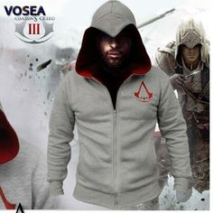 2016 Spring New Fashion Autumn Winter Assassins Creed Hoodie Sweatshirt Chadal Hombre Cosplay Costumes Cool Zipper Hoodies Men //Price: $36.00 & FREE Shipping //     #ubisoft