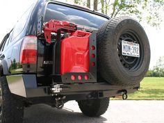 Shrockworks 4Runner Rear Bumper & Tire Rack, 3rd Gen (1996-2002)