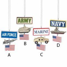 Army Tank Military Christmas Ornament
