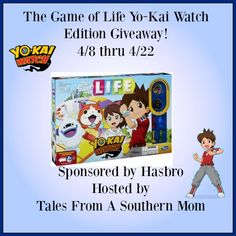 Enter to Win the Game of Life Yo-Kai Edition Giveaway Ends 4/22