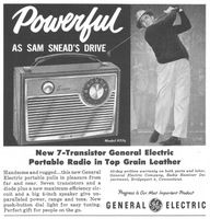 GE Portable Radio 1959 Ad Picture
