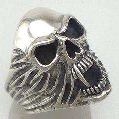 boy rings   Biker Rings & Jewellery - Vampire Skull Biker Ring