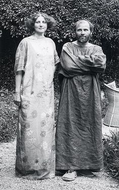 Emilie Flöge and Gustav Klimt. Emilie is the subject of Klimt's famous Portrait of Emilie Flöge from 1902. She is also believed to be the female model in Klimt's famous work, The Kiss