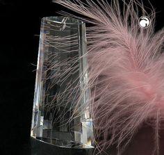 Anhänger, Schwinge, kristall klar  Kristall-Glas, 30% Bleigehalt