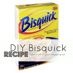 DIY Bisquick. Save money and make at-home with simple ingredients that you can store in the pantry.