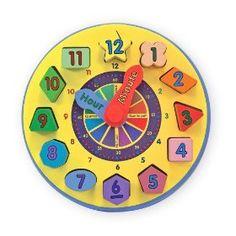 Melissa & Doug Wooden Shape Sorting Clock.  List Price: $14.99  Sale Price: $12.24  More Detail: http://www.giftsidea.us/item.php?id=b000gkatu0