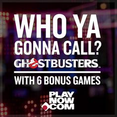 Join Slimer in a world of paranormal payouts when you play Ghostbusters at PlayNow.com