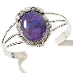 Chaco Canyon Southwest Purple Kingman #Turquoise Sterling Silver Cuff #Bracelet