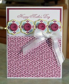 Handmade Mothers Day Card, Stampin Up Something to Celebrate via Etsy