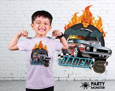 Hot Wheels Birthday shirt Hot Wheels shirt by PartyMonsterStuff