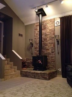 The Birchwood Free Standing Gas Fireplace Provides The