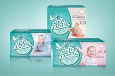 Little Rascals Nappies on Packaging of the World - Creative Package Design Gallery