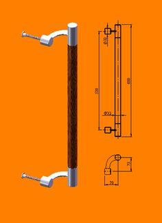 размеры одинарной ручки скобы