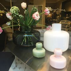 New vases by talented glass designer in store now . Marimekko, Spring Flowers, Glass Vase, Vases, Instagram Posts, Pink, Friday, Store, Design