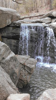 #waterfall in the north end of the park