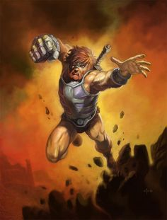 Art by Nathan Rosario. Fisto, ally of He-Man, is a character from Masters of the Universe known for his large metal fist. Man, Old School Cartoons, 80 Cartoons, Pin Up, She Ra Princess Of Power, Universe Art, Thundercats, Classic Cartoons, Cultura Pop