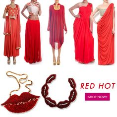 "RED HOT- ""When in doubt, wear red""..  Shop this Bold and vibrant colour on our website now.http://goo.gl/CNtdlS"