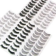 Winstonia's 50 Pairs False Eyelashes Fake Lashes Bundle Set w/ Adhesive $15.94