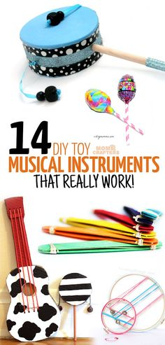 I am obsessed with how simple and easy these DIY musical instruments are to make! They are all great crafts for kids and DIY toys for moms to make, and great kids activities for music and movement. that are easy to make and fun to play! Instrument Craft, Making Musical Instruments, Homemade Instruments, Toddler Instruments, Camping Crafts, Fun Crafts, Arts And Crafts, Rv Camping, Projects For Kids