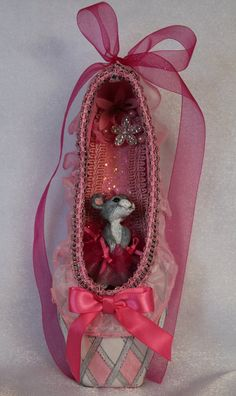 Decorated Pointe Shoe:Nutcracker Mouse Rat Queen by KikosCraft