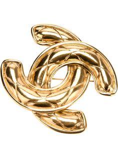 Chanel Vintage Designer Logo Brooch