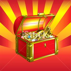 treasure chest Royalty Free Stock Vector Art Illustration Buried Treasure, Treasure Boxes, Treasure Chest, Pirate Cat, Free Vector Art, Pirates, Royalty, Cats, Illustration