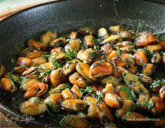 Едим Дома кулинарные рецепты от Юлии Высоцкой   Мидии с зеленью и чесноком рецепт 👌 с фото пошаговый
