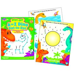 A To Z Dino Dot To Dot Dino-Mite Pals Wipe-Off Book