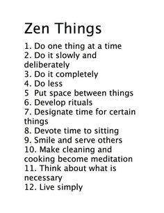 helpful zen things