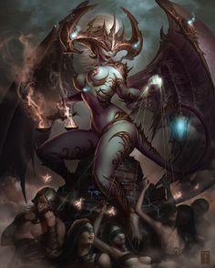 The Demoness by *ArtofTy on deviantART