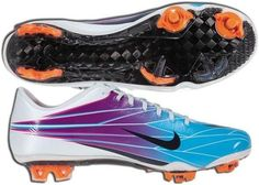 Popular Nike Mercurial Vapor Superfly II Elite FG Soccer Cleats Chlorine Blue/Circuit Orange/white Men cleatsout of stock