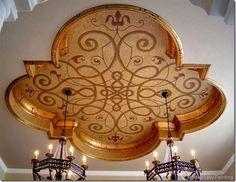 Lovely Quatrefoil ceiling