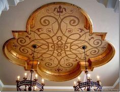 Lovely Quatrefoil ceiling