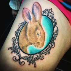 A memorial piece of our clients pet bunny rabbit  Done by : @tattoosbytate  Tattoo Shop : @lonesparrowtattoostudio