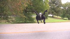 Oh no! Drones are scary enough without dressing them up like the Grim Reaper and terrorizing unsuspecting folks! This Halloween trickster put his remote-controlled flying machine to sinister use in this fun video.